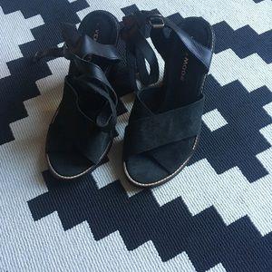 VERO MODA black suede sandals in great condition!
